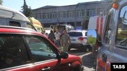 Место взрыва в Керчи, 17 октября 2018 года