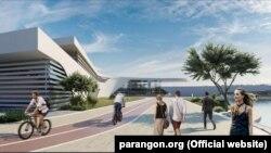 Проект комплекса «Аква Евпатория», который планируют построить в Заозерном