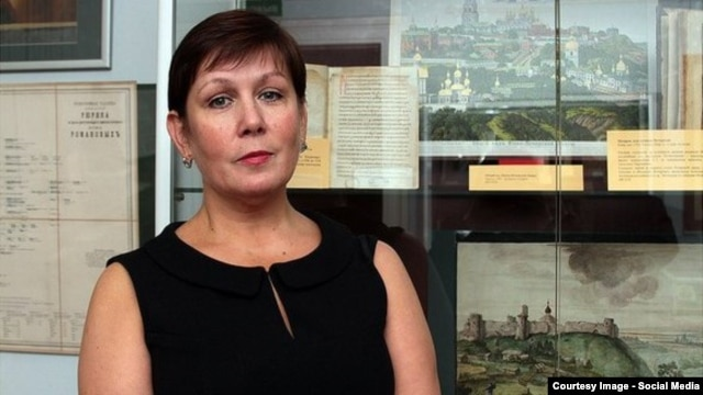 Natalia Sharina, the director of the Ukrainian Literature Library in Moscow (file photo)