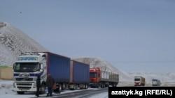 Бишкек-Торугарт жолу кышында