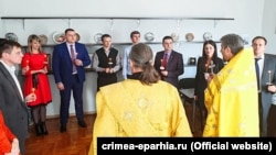 Освящение здания Министерства курортов и туризма Крыма