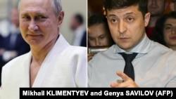 Vladimir Putin ve Volodımır Zelenskıy