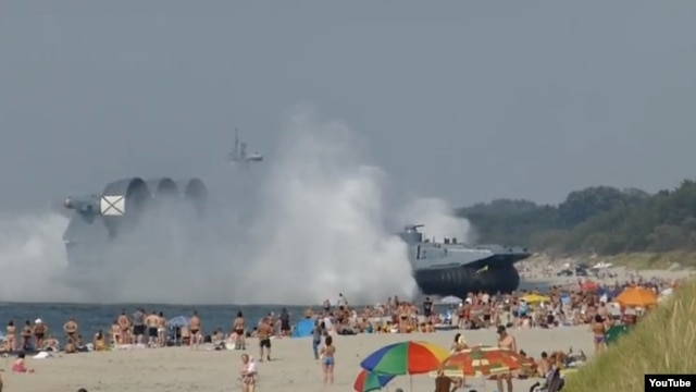 Just another day at the beach in Russia's Kaliningrad exclave.