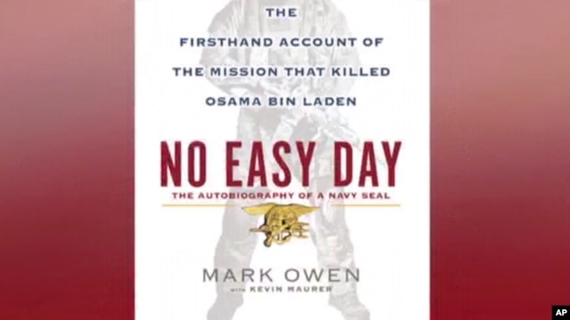 The cover of the book 'No Easy Day' by Mark Owen (a pseudonym), a Navy SEAL, about the raid that killed Osama bin laden in Abbottabad, Pakistan, in May 2011.