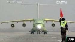 Չինական արտադրության Y-20 ռազմական տրանսպորտային օդանավը, հունվար, 2013թ.