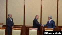 Встреча представителей партии «Свобода» с президентом страны Сержем Саргсяном по вопросу конституционных реформ, Ереван, 16 сентября 2015 г.