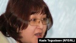 Гузяль Байдалинова, руководитель компании-собственника ряда оппозиционных изданий. Алматы, 19 декабря 2012 года.