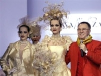 Designer Zaitsev on the runway