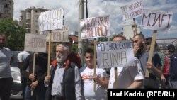 Pamje gjatë protestës