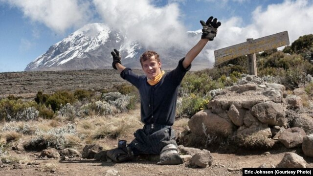 In June, Alexander D'Jamoos hiked to just beneath the peak of Mount Kilimanjaro to raise awareness for the work of Happy Families International Center, a U.S.-Russian NGO that aids orphans with special needs.
