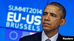 باراک اوباما در نشست آمریکا و اتحادیه اروپا