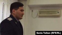 Прокурор Арман Оразбаков, государственный обвинитель на процессе Шухрата Кибирова. Алматы, 26 сентября 2017 года.