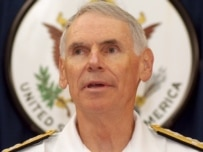 U.S. Admiral William Fallon, the first naval officer ever to head U.S. Central Command (epa)