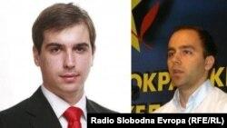 Шефовите на подмладоците на ВМРО-ДПМНЕ и на СДСМ, Диме Спасов и Дарко Давитковски.