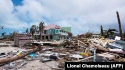 Pamje nga shkatërrimet e shkaktuara nga uragani Irma në rajonin më të gjërë të Karaibeve