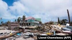 Pasojat e uraganit Irma në Karaibe.
