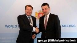 EBRD-ის პირველი ვიცე-პრეზიდენტი იურგენ რიგტერინკი და საქართველოს პრემიერ-მინისტრი გიორგი გახარია