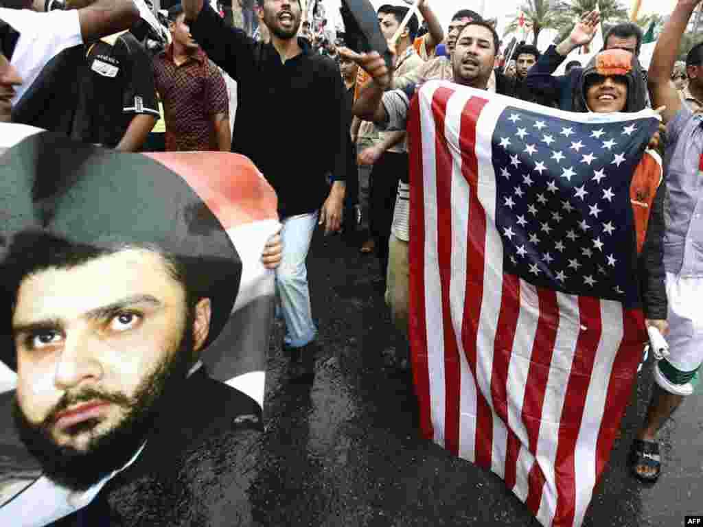 В Ираке проходят протесты против присутствия войск США в стране, приуроченные к шестой годовщине взятия Багдада
