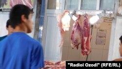 Мясной рынок в городе Кулябе.