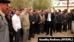 Акция протеста жителей Сабирабадского района против бедности в селах и плохих дорог, 23 апреля 2011