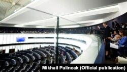 П'ятий президент України Петро Порошенко під час засідання Європейського парламенту в Страсбурзі, 18 липня 2019 року