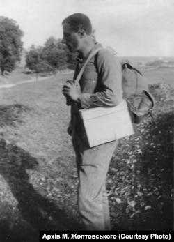 Павло Жолтовський під час мандрівок Україною. (Із сімейного архіву М.П. Жолтовського)