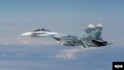 Фото, зроблене під час перехоплення російського літака Су-27 поблизу Естонії, 17 травня 2016 року
