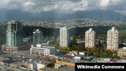 Burnaby una din suburbiile orașului canadian Vancouver