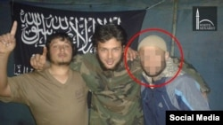 "An image from White Minaret, the Russian-language media wing of Al-Qaeda's Syrian affiliate, showing a 24-year-old ethnic Uzbek from Kyrgyzstan, called ""Usman,"" who reportedly fought alongside Jabhat al-Nusra and died in a 2015 clash with U.S.-backed militants."
