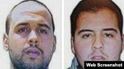 Братья Халид (слева) и Ибрагим эль Бакрауи, подозреваемые в совершении терактов в Брюсселе 22 марта 2016 года.