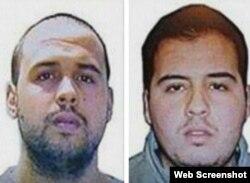 Brothers Khalid (left) and Ibrahim El Bakraoui