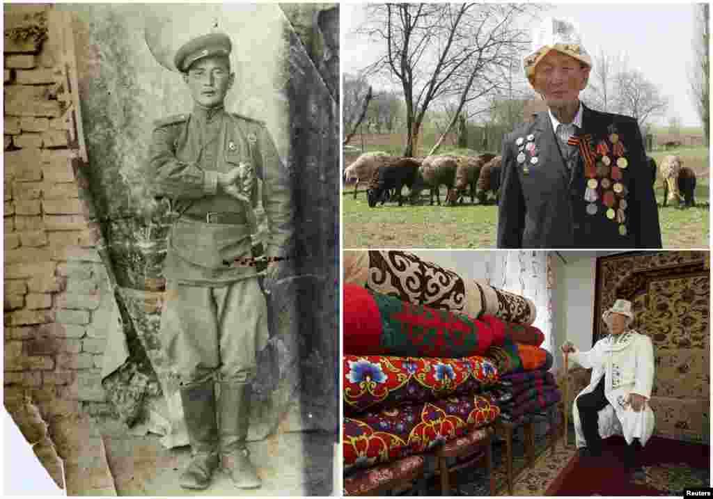 Абла Бегалиев, 92 года. Киргизский офицер, служил в кавалерии погранвойск с февраля 1942 по апрель 1947 годов.
