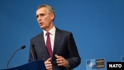 "NATO Secretary-General Jens Stoltenberg in Brussels on October 24: ""Trident Juncture sends a clear message to our nations and to any potential adversary."""