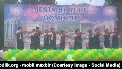 Өзбекстандын эрктүүлүгүнүн 24 жылдыгына арналган концерт. Наманган, 1-сентябрь