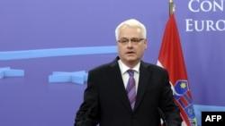 Претседателот на Хрватска Иво Јосиповиќ.