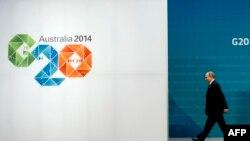 Президент Росії Володимир Путін залишає саміт «Групи двадцяти», 15 листопада 2014 року