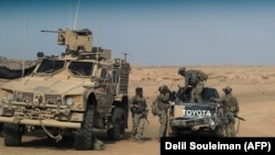 Американские военные в провинции Дейр-эз-Зор. Сирия, 13 сентября 2018 года.
