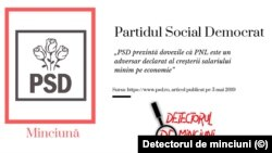 """Partidul Social Democrat a publicat pe 3 mai 2019 un comunicat de presă pe site-ul oficial în care anunță că are""""dovada edificatoare care confirmă că PNL a fost tot timpul un adversar declarat al creșterii salariului minim pe economie""""."""