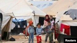 Sirijske izbeglice u kampu u Jordanu