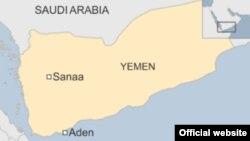 Йемен картасы (Көрнекі сурет).