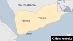 Карта Йемена.