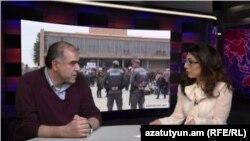 «Հիմնադիր խորհրդարան»-ի նախագահ Գարեգին Չուքասզյանը «Ազատություն TV»-ի տաղավարում, 30-ը մարտի, 2015թ.