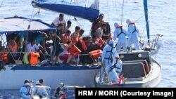 Жерорта теңізіндегі мигранттарды құтқару операциясы.
