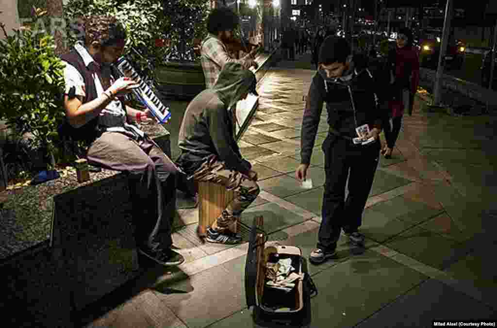 A less controversial image from the series on street musicians