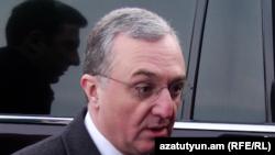 Министр иностранных дел Армении Зограб Мнацаканян (архив)