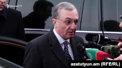 Министр иностранных дел Армении Зограб Мнацаканян, Ереван, 28 января 2018 г.