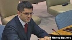 Vuk Jeremić na jednoj od sednica Saveta bezbednosti UN