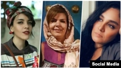 "Iran -- Iranian women's rights defenders Monireh Arabshahi (Center), Yasaman Aryani (Left) and Mojgan Keshavarz (Right) have been detained in Shahr-e Ray prison, outside Tehran, since April 2019. They have been charged with offences including ""inciting an"