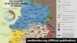 Карта боевой обстановки по состоянию на 5 ноября 2017 года