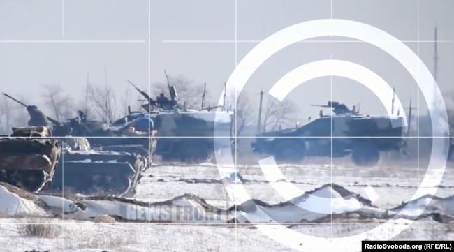 Российский броневик БМП-97 на военных учениях под Луганском